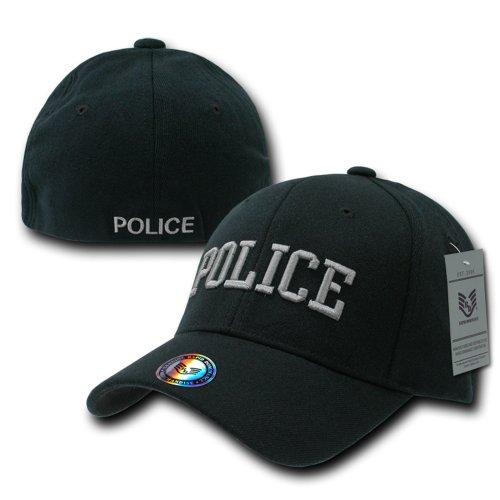 fitall Rapiddominance de negro Flex policía gorra EwdE0Frx6q