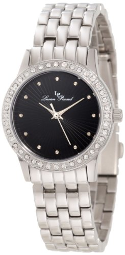 Lucien Piccard Women's 11696-11 Monte Velan Black Textured Dial Stainless Steel Watch