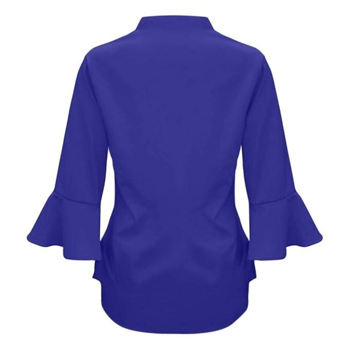 ❤ Blusa Casual para Mujer Bell Bell, Suelto sólido V Cuello Gasa Blusa Tops Absolute: Amazon.es: Ropa y accesorios