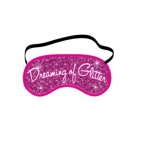 Dreaming Of Glitter Funny Novelty Sleeping Mask For Travel Or Home (Eye Glitter Mask)