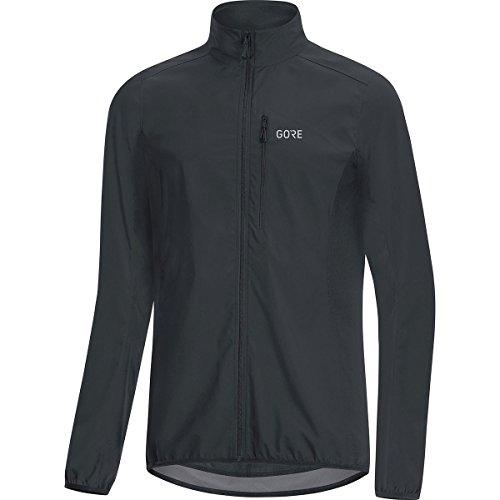 GORE WEAR C3 Men's Gore Windstopper Jacket, XL, Black