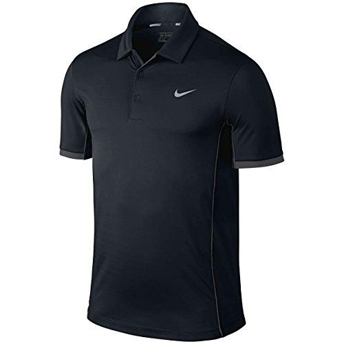 2015 Nike Dri-Fit Modern Tech Ultra Polo Mens Funky Golf Polo Shirt Black XL