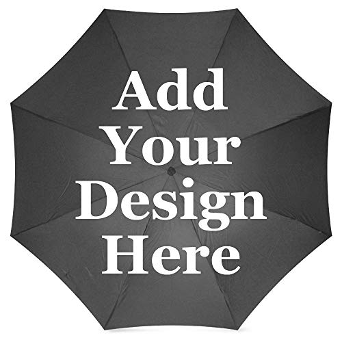 FavorPlus-Umbrella Logo Text Photo Image Picture DIY Personalized Custom Monogramed Design Sun/Rain All Wheather Foldable Umbrella Gifts