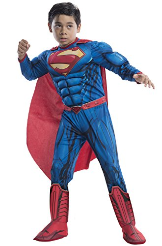 [Rubie's Costume DC Superheroes Superman Deluxe Child Costume, Medium] (Costumes Superman)