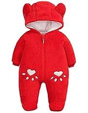 Simplee kids Baby spädbarn pojke flicka vinter varm snödräkt ytterkläder nyfödd huva sparkbyxor overall för 0-18 månader