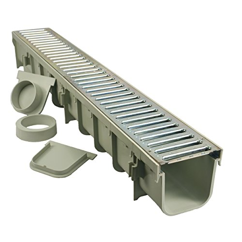"NDS 864GMTL 5"" Pro Channel Drain Kit with Metal Grate"