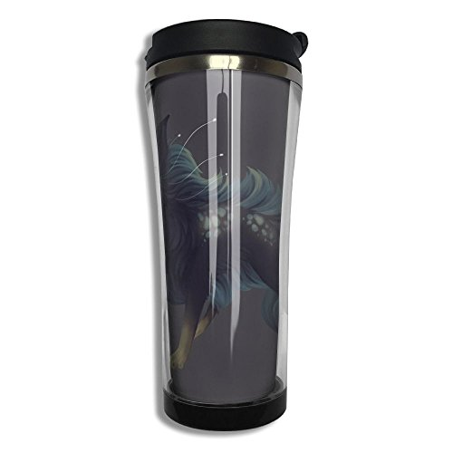 Aeon Decor - XLF-K2 Vacuum Insulated Leak Durable Portable Stainless Steel Travel Coffee Mug For Home Office School Ice Drink Hot Beverage Cup Aeon Custom Black