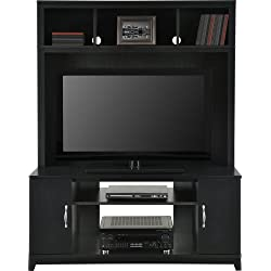 Home TV Stands Wood Entertainment Media Center for Flat Console Screens With Storage Wall Unit T.V. Furniture Set