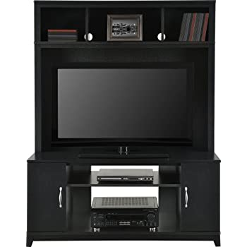 Home TV Stands Wood Entertainment Media Center For Flat Console Screens  With Storage Wall Unit T.V.