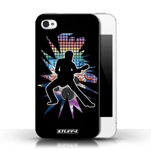 Etui / Coque pour Apple iPhone 4/4S / étendre Noir conception / Collection de Rock Star Pose