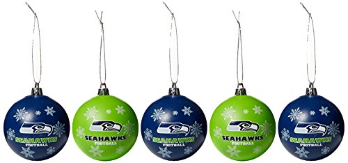 Seattle Seahawks 2016 5 Pack Shatterproof Ball Ornament Set