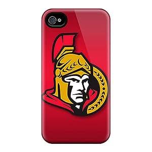 RobAmarook Apple Iphone 4/4s Anti-Scratch Hard Cell-phone Cases Customized Lifelike Ottawa Senators Pictures [DPj7514bOnY]