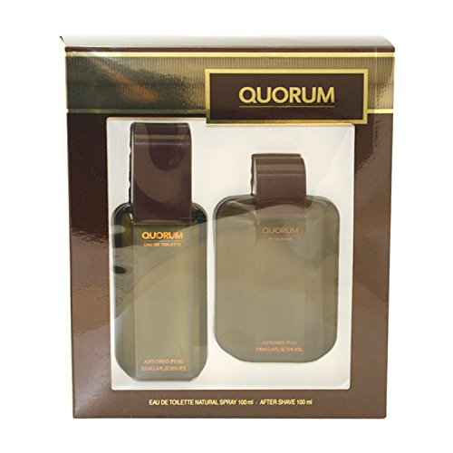 Quorum By Antonio Puig For Men. Set-edt Spray 3.4-Ounce & Aftershave 1.7-Ounce 99 Perfumes CA Dropship 141593