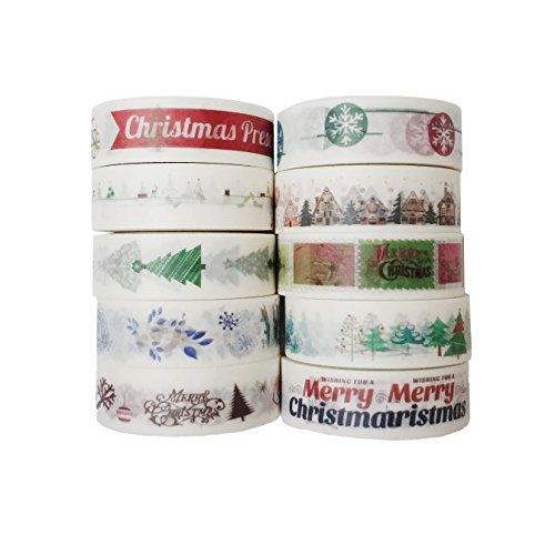 Leo's Choice 1.5cmX10m Cute Christmas Washi Tape set of -