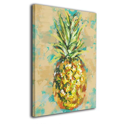 MoulMa Contemporary Tropical Summer Fiesta Pineapple -Picture Paintings Canvas Wall Art Prints 12