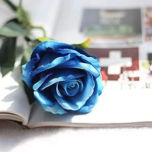 CoronationSun - Rose Artificial - 10pcs/Lots Floral Rose Artificial Flowers Silk Wedding Bouquet Home Decor Party 79