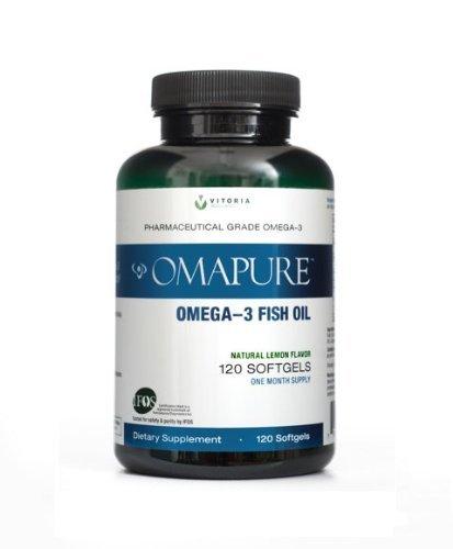 OMAPURE Pharmaceutical Grade Omega-3 Fish Oil (1 Bottle; 120 softgels) by OMAPURE