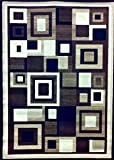 Modern Area Rug 5 Ft. 2 In. X 7 Ft. 3 In. Brown #125