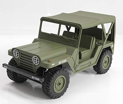 1/14 道路車ジープ、2.4GHZ rc軍隊トラック電気車からの4WDリモートコントロール4X4 B07S7L3DPC