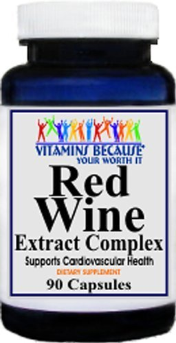 Red Wine Extract Complex Resveratrol Capsules - Super Antioxidant For Whole Body Well-Being Discount