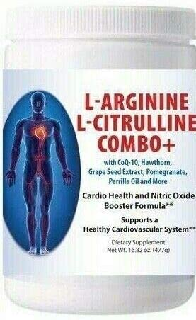 L-arginine and L-citrulline Combo, Nitric Oxide Supplement, Tart Cherry Flavor, Pack of 1