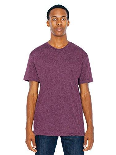 American Apparel Men 50/50 Crewneck T-Shirt Size L Heather Plum