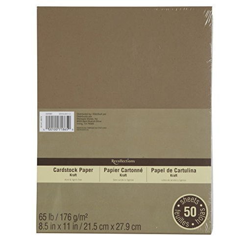 Cardstock Paper Value Pack, 8.5 x 11 in Kraft by Recollections