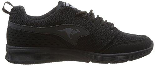 KangaROOS Current, Unisex-Erwachsene High-Top Sneaker Schwarz (black 500)