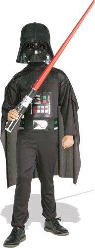 Star Wars - Disfraz de Darth Vader para niño, caja con disfraz, máscara y espada, 3-4 años (Rubie`s 41020-S)