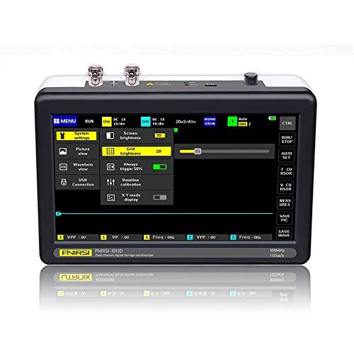 "Digital Oscilloscope,KKmoon ADS1013D Handheld Digital Tablet Oscilloscope Portable Storage Oscilloscope Kit with 2 Channels, 100Mhz Bandwidth, 1GSa/s Sampling Rate 7"" TFT LCD Touch Screen"