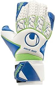 Luva De Goleiro Uhlsport Aquasoft, Branco, Azul e Verde