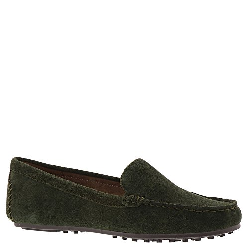 Aerosoles Frauen Over Drive Slip-On Loafer Dunkelgrünes Wildleder