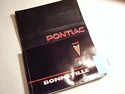 2002 pontiac bonneville owners manual pontiac amazon com books rh amazon com 2003 Pontiac Bonneville 2000 Pontiac Bonneville