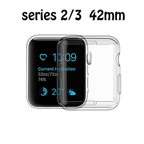 Price comparison product image Apple Watch 3 Screen Protector, POHOO iwatch Case TPU All-around 0.3mm Ultra-thin Cover for New Apple Watch Series 3 42mm (2017)