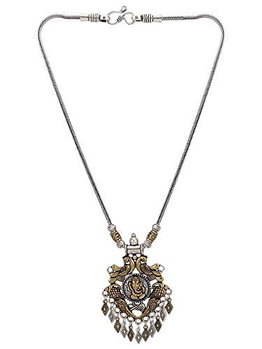Oxidized Silver Jewellery - Efulgenz Boho Vintage Antique Ethnic Gypsy Tribal Indian Oxidized Gold Silver Statement Lord Ganesha Pendant Necklace Jewelry