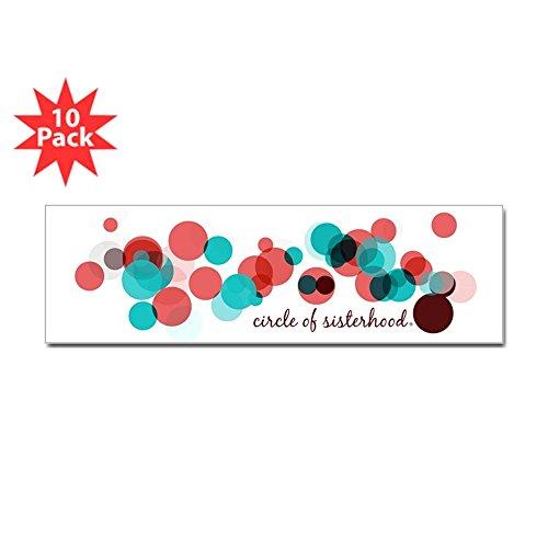 "CafePress - Circle of Sisterhood Logo - 10""x3"" Rectangle Bumper Sticker Car Decal (10 Pack)"