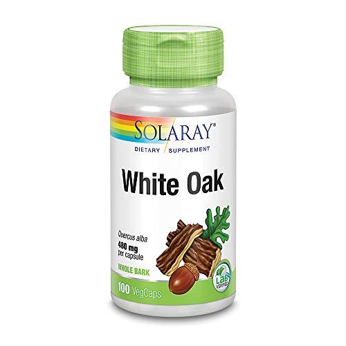 (Solaray White Oak Bark Capsules, 480 mg, 100)