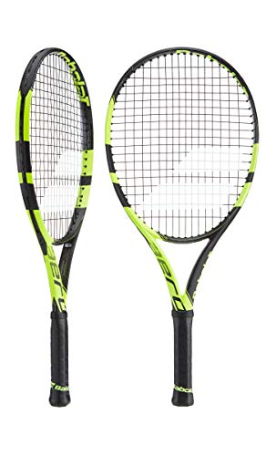 Babolat Pure Aero Junior 25 Inch Black/Yellow Tennis Racquet (4 1/8