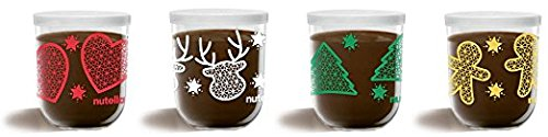 Ferrero: ''Nutella'' Chocolate Hazelnut Spread, Christmas 2016 Special Edition, Pack of 15 Decorated Glasses - 7.05 Ounces (200g) [ Italian Import ] by Nutella
