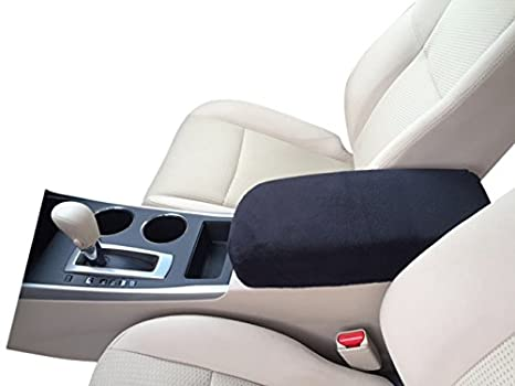 Auto Console Covers- Compatible with The Nissan Altima 2013-2017 Center  Console Armrest Cover Fleece Fabric - Black
