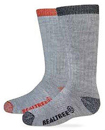 Realtree Girls Kids Merion Blend Boot Socks, Gray/Teal, Small