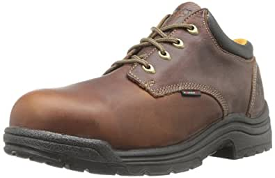 Timberland PRO Men's Titan Safety Toe Oxford,Haystack Brown,7 W