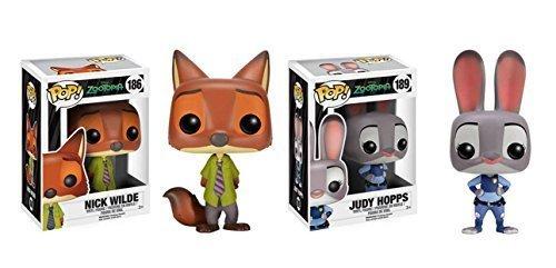 Funko POP Zootopia: Nick Wilde and Judy Hopps Alien 2 Piece BUNDLE