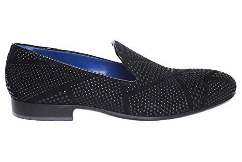 Giovanni Conti3405-13 Ante Negro Italiano Con Diseño Antideslizante En Los Zapatos