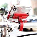 BENGUO-Supporto-Porta-Telefono-Cellulare-Smartphone-Universale-per-Bici-Mountain-Bike-BMX-Monopattino-ELETTRICCO-XIAOMI-Rosso-Alluminio