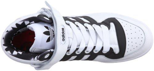 adidas - Zapatillas de Cuero para hombre blanco y negro, color ...