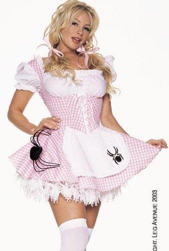 [Sexy Halloween Costumes Little Miss Muffet Costume Womens U.S. XS] (Miss Muffet Costumes)