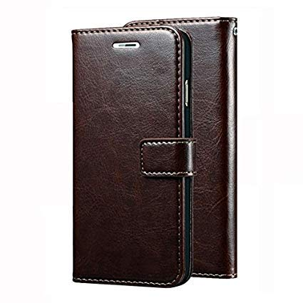 Trounce™ Pu Leather Flip Cover with Stand/Wallet/Card Holder  Coffee Brown  for Sony Xperia C3