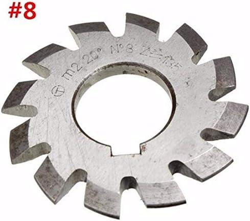 Gulakey 丸鋸刃、8本の直径22ミリメートルモジュール2つの20degree#1-8 M2 HSSインボリュート歯車フライス電気ツール