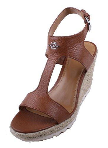 Coach Leeanne Leather Platform Sandals